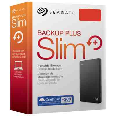 Seagate 1TB Backup Plus Slim External Hard Disk Drive HDD
