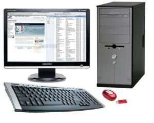 Assembled Latest Core-2 Duo PC with TFT PC Computer Desktop
