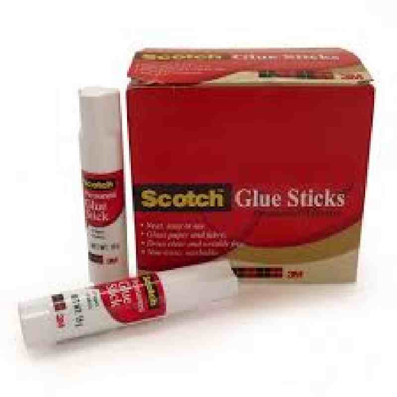 3M Scotch 15g Permanent White Glue Stick
