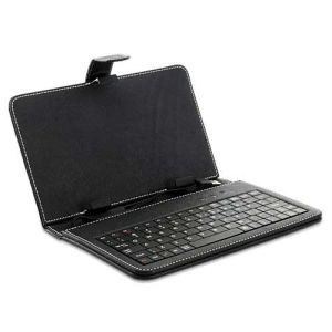 "USB Keyboard for Android tablet PC Ipad 7"" Black Cover Case"