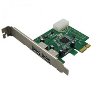 2-Port SuperSpeed USB 3.0 PCI-E Express Expansion Host Controller Card