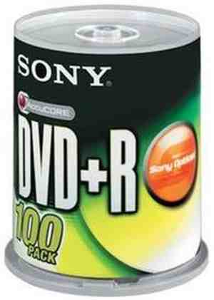 Sony DVD+R 100 Pack Spindle Blank Media