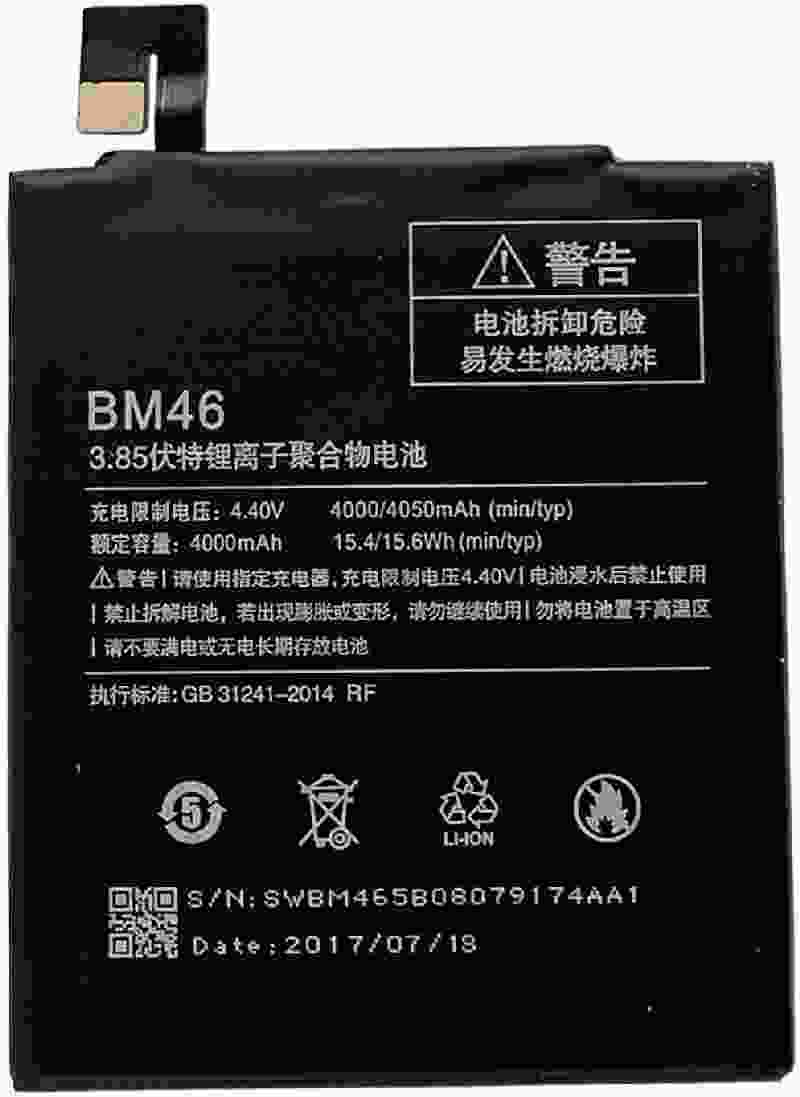 Redmi BM46 4000/4050 mAh for Xiaomi Redmi Mi Note 3 Battery