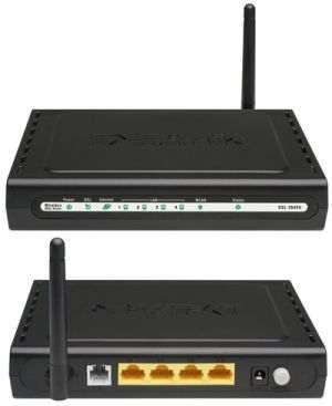 Dlink 4-Port Wireless G ADSL2+ Router