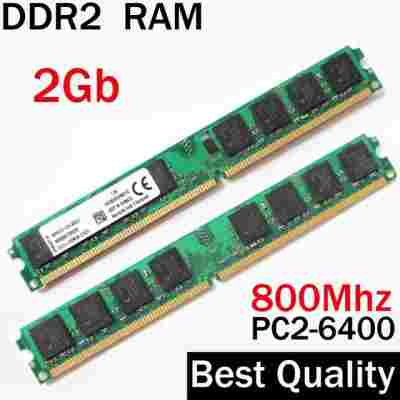 DDR2 2GB RAM Memory Refurbished Mix Brand Samsung Hynex etc for Desktops RAM