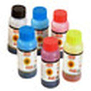 Desmat Refill Color Ink Bottle 125 ML for CISS 6 Pcs