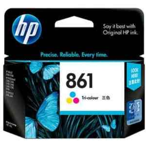 HP 861 Tri-colour Inkjet Print Cartridges