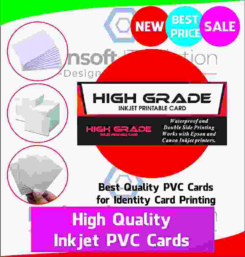 HIGH-Grade PVC Inkjet White Blank Plain Card 230 Pcs Pack Inkjet Printers Plastic ID Card