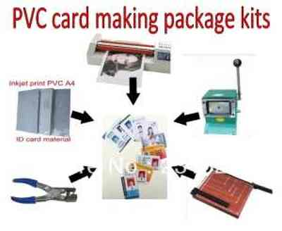 IDcard making machine kits package Simple tools for School and Office ID card Making Kit
