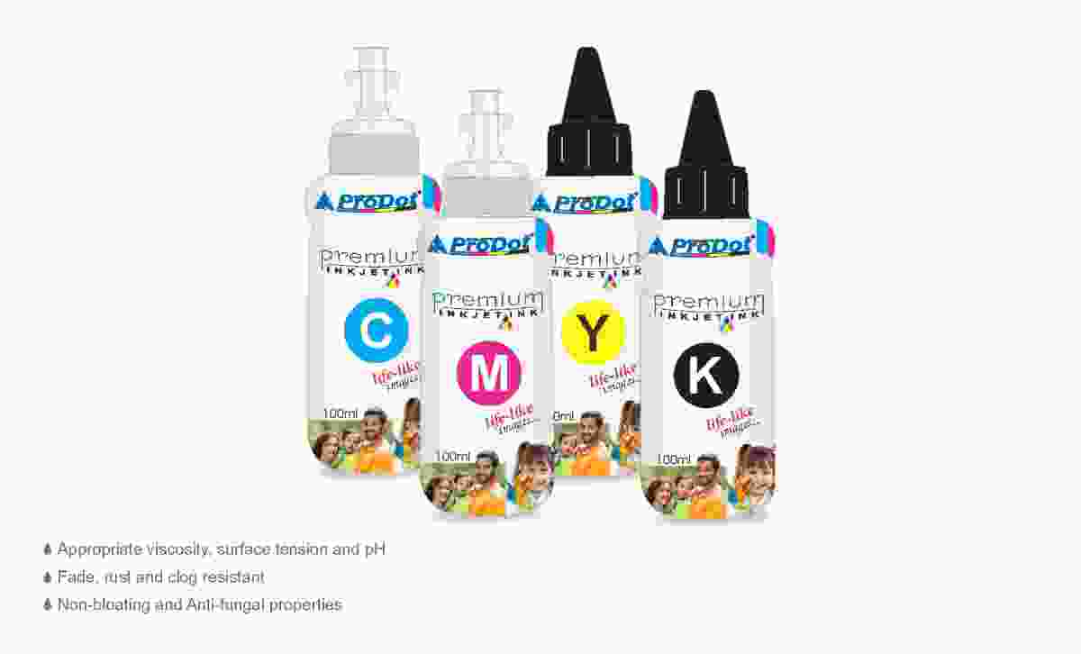 Prodot Compatible Epson Stylus Photo R/RX/T/TX, L-Series, M-Series, Workforce Pro 100 ML Refilling Ink Bottle