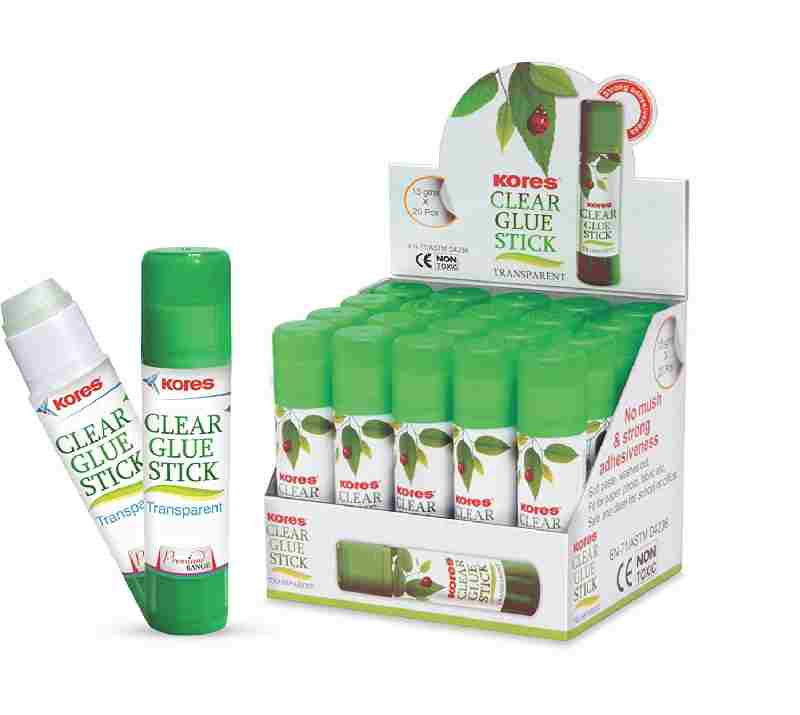 KORES 15 gms NON Toxic Transparent Clear Glue Stick