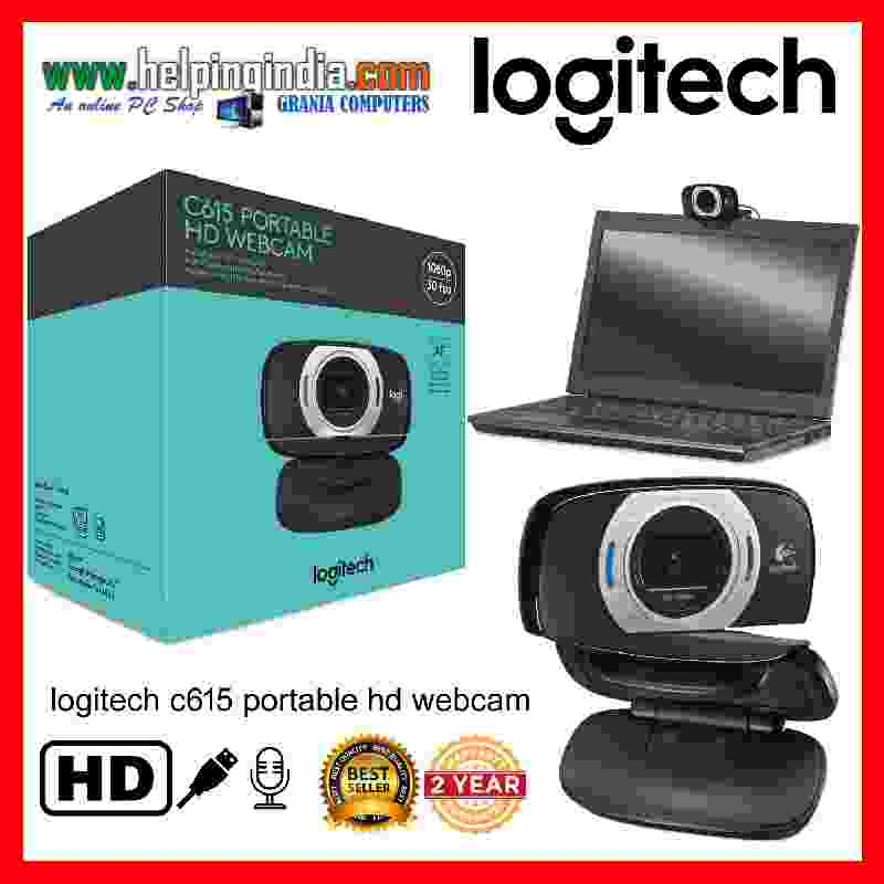 Logitech C615 HD Portable1080p with Autofocus USB Webcam