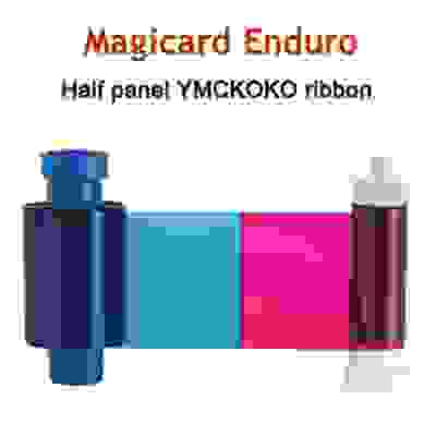 Magicard Half Panel Dye Film YMCKOKO Full Color Ribbon