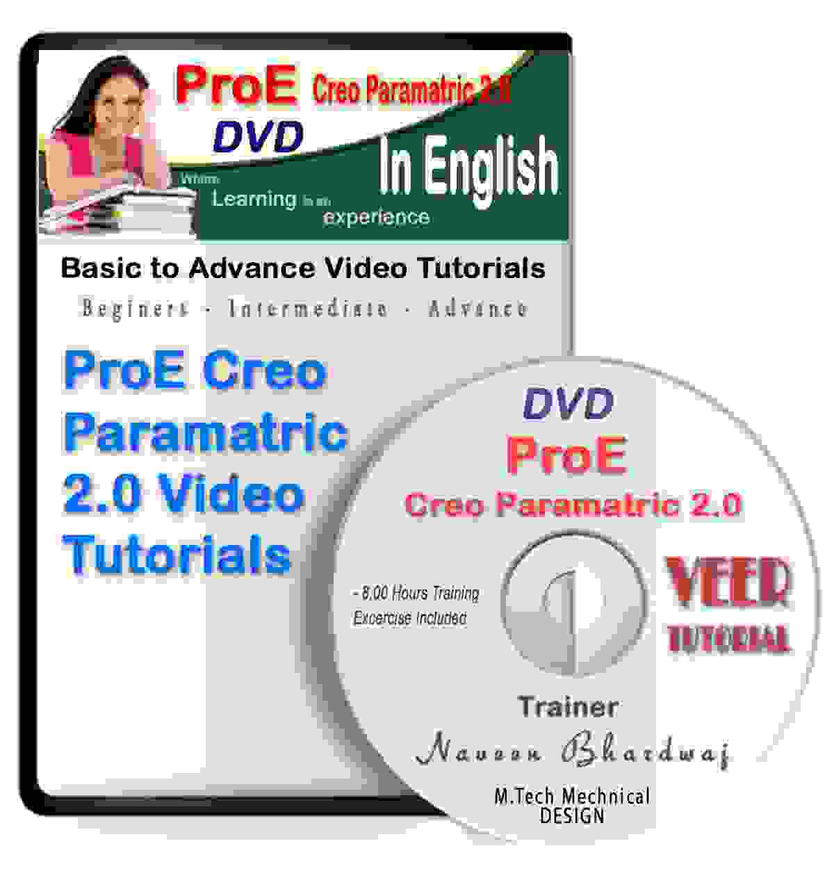 Pro Engineer Creo Tutorial DVD Latest Version Basic to Advance in English Training Video