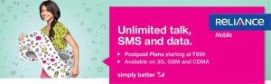 Reliance TRULY Unlimited Plans � Free UNLIMITED Local, STD Postpaid SIM Connection