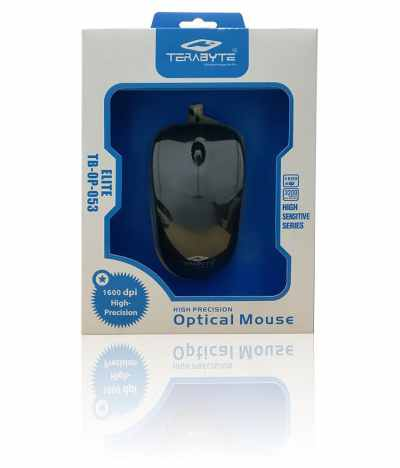 Terabyte Black USB Wired Mouse