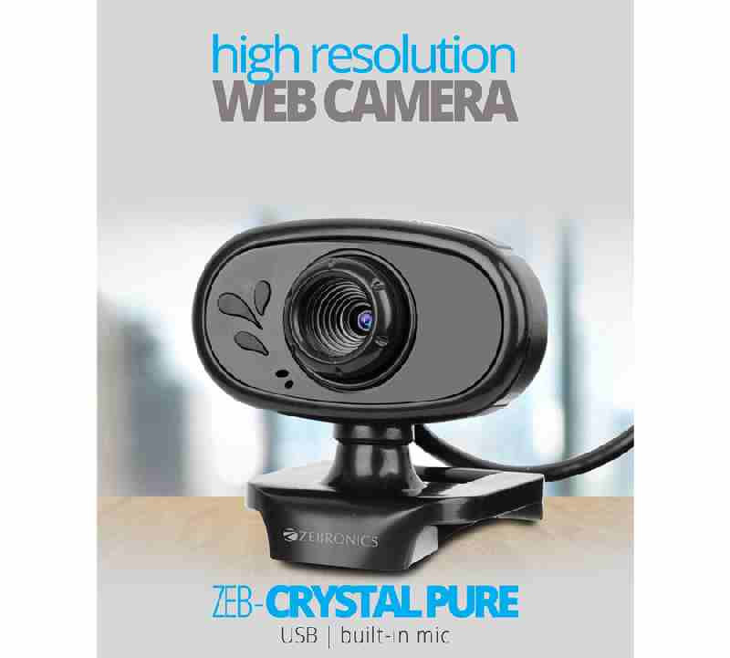 Zebronics Zeb-Crystal Pure 3PLENS BuilIn Mic USB WebCam