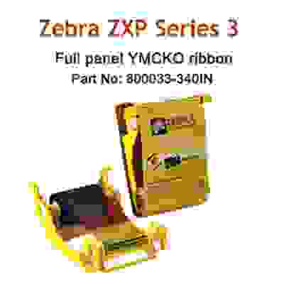 Zebra ZXP3 YMCKO ZXP True Color IN Series 3 FullPanel Colour Ribbon