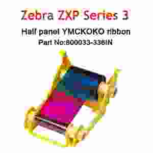 Zebra ZXP3 YMCKO ZXP True Color IN Series 3 Half Panel Colour Ribbon