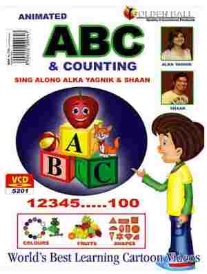 Golden Ball Animated English VCD ABC And Counting