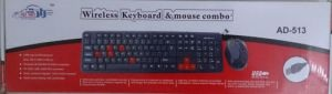 Adnet Wireless Keyboard With Mouse Black wifi Combo