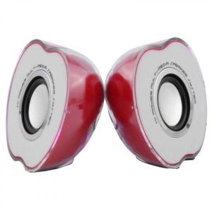 Adnet Multimedia Speaker Half Apple for PC Laptop Mobile Phone MP3 Portable Speaker