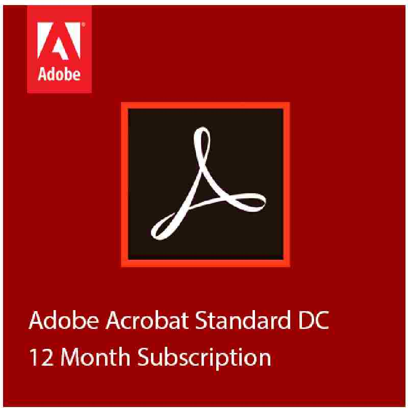 Adobe Acrobat DC 1 Year Subscription Standard Software