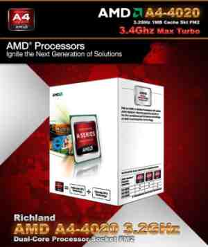 AMD 3.2 GHz FM2 A4 4020 CPU Processor