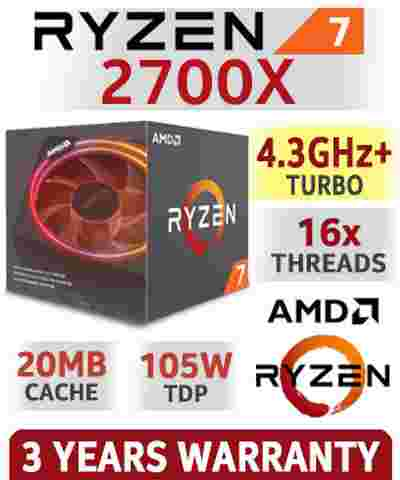 AMD Ryzen 7 2700X 20MB Cache, 4.3 GHz 16x Cores AM4 Chipset 2nd Gen AMD Ryzen Desktop Processor