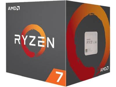 AMD Ryzen 2700x 8Core with Wraith Prism with RGB LED Processor CPU