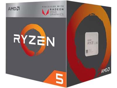 AMD Ryzen 4 G2400 with Wraith Stealth Cooler Processor CPU