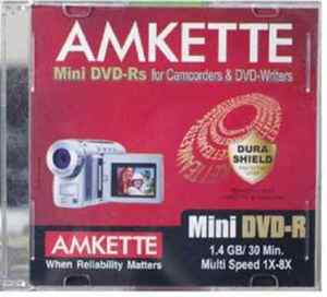 Amkette Mini DVD-R 1.4 GB 8x JC 10 Pack