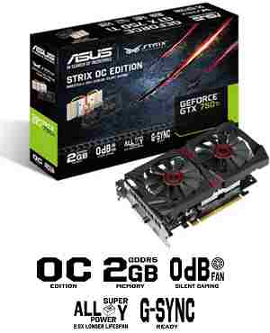 Asus NVIDIA GeForce GT 750 2 GB DDR5 Graphics Card