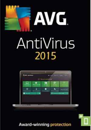 AVG Anti-Virus 2015 Antivirus Software CD