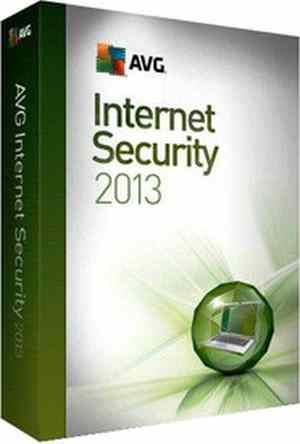 AVG Internet Security 2013 Software CD 1 PC 1 Year
