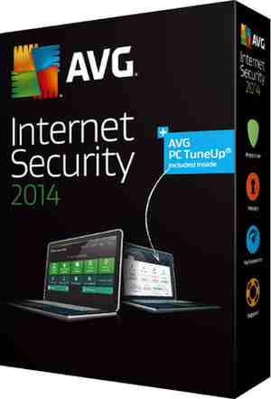 AVG Internet Security 2014 Software CD 3 PC 1 Year