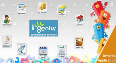 I-Genius Pathshala Education Schools & Colleges Management GST Ready ERP Software