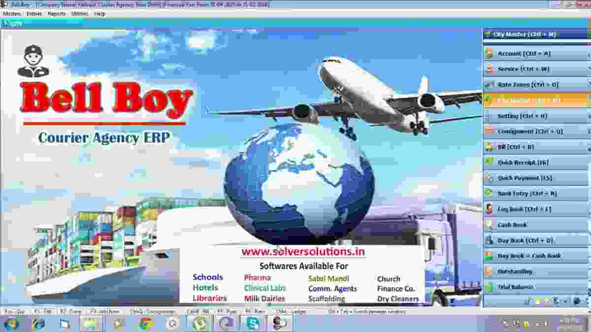 Bell Boy Courier Agencies ERP GST Ready Bellboy Billing Management Software