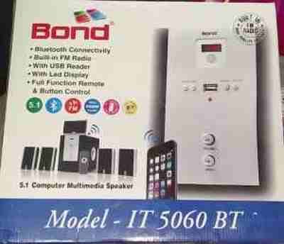 Bond IT5060BT 5.1 Multimedia with FM, USB & Remote Control Bluetooth Woofer Speaker