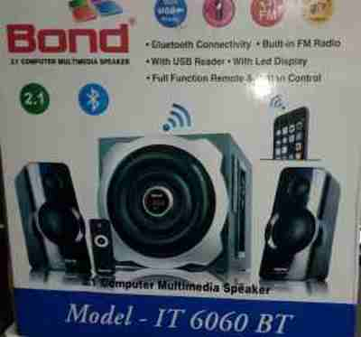 Bond IT6060BT 2.1 Multimedia with FM, USB & Remote Control Woofer Speaker