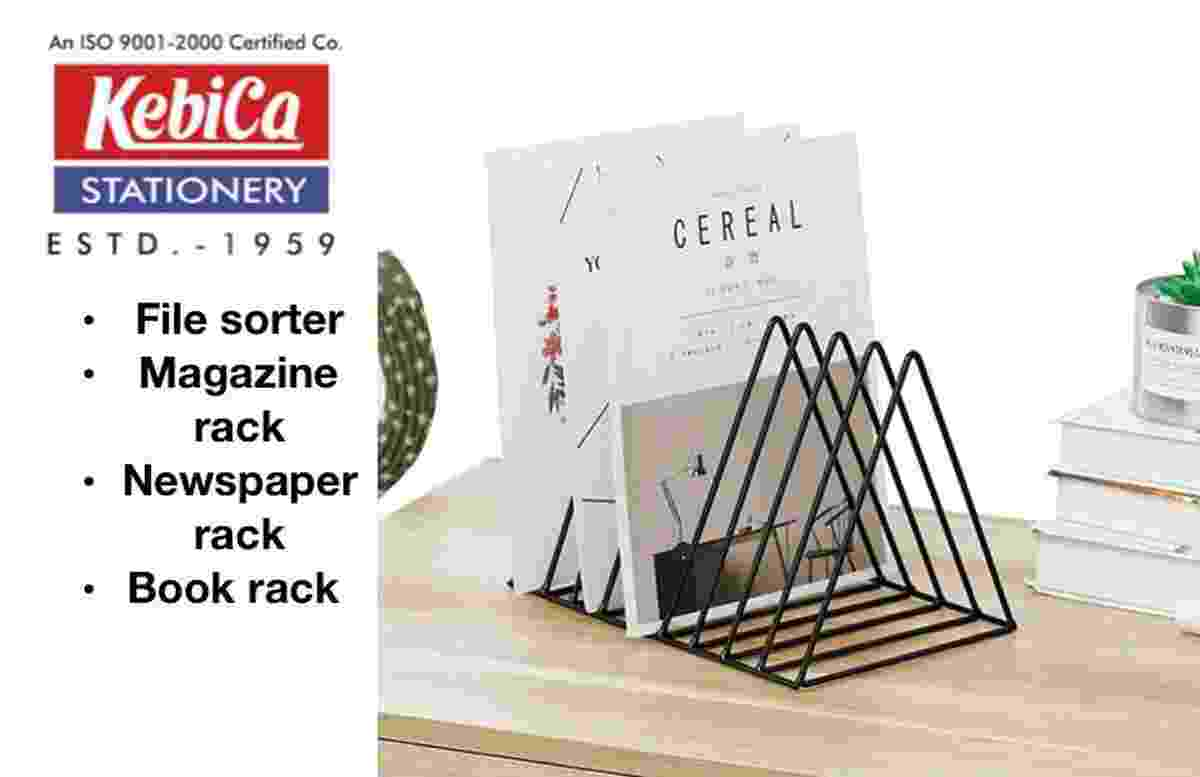 Kebica METAL Magazines, Newspapers, Documents 2 Pcs Iron Wire RACK