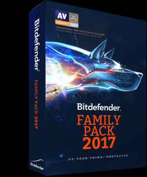 Bitdefender Family Pack 2017 Total Security 3 User Single key Multi Device Software CD