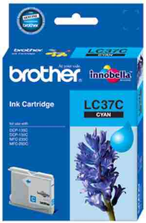 Brother LC 37C Cyan Ink cartridge