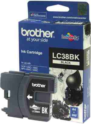 Brother LC 38BK Black Ink cartridge
