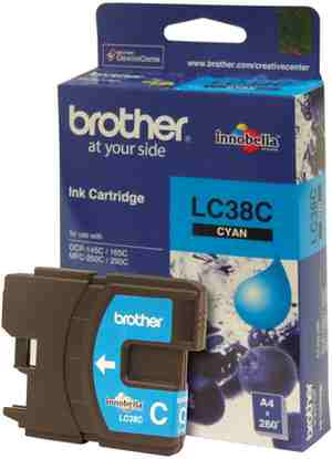 Brother LC 38C Cyan Ink cartridge