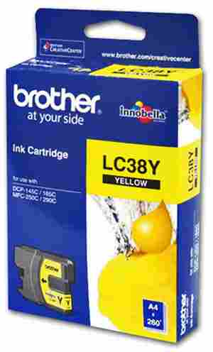 Brother LC 38Y Yellow Ink cartridge