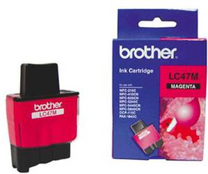Brother LC 47M Magenta Ink cartridge