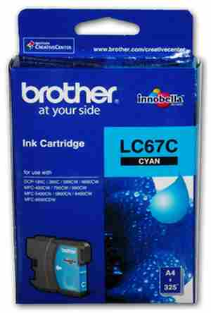 Brother LC 67C Cyan Ink cartridge