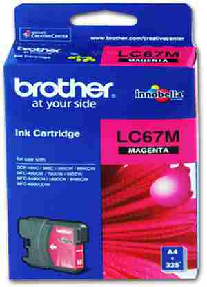 Brother LC 67M Magenta Ink cartridge