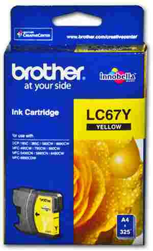 Brother LC 67Y Yellow Ink cartridge
